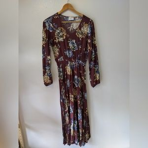 Everly Floral Long Sleeve Dress